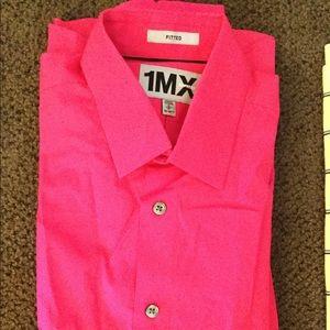 Express dress shirt- hot pink